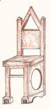 Židle strohá barevná kresba