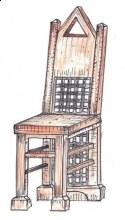 Židle kombinace dřevo kov plná záda