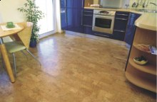 Korková podlaha kuchyně