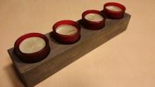 Adventní stojánek na 4  čajové svíčky v misce