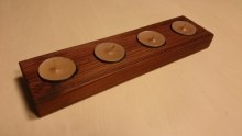 Adventní stojánek na  4 čajové svíčky