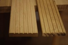 Dubové terasové podlahy hrubé drážky