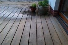 Dubové terasové podlahy hladký povrch zádveří