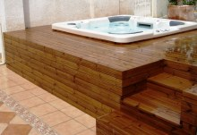 Tepelně upravená finská borovice thermowood bazény vířivky 3